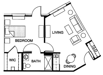 538 sq. ft. floor plan
