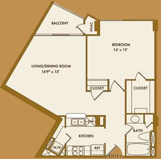 776 sq. ft. A floor plan