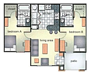 773 sq. ft. floor plan