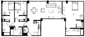 1,545 sq. ft. C3 floor plan