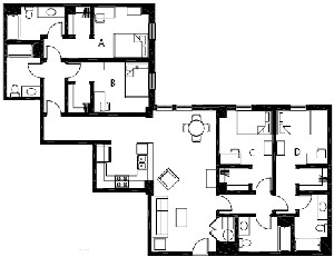 1,688 sq. ft. to 1,689 sq. ft. D5 floor plan