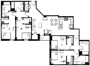 1,696 sq. ft. D6 floor plan