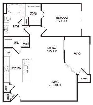 830 sq. ft. Lynch floor plan