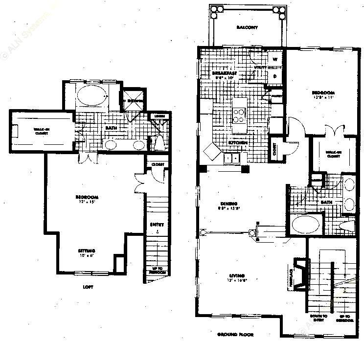 1,581 sq. ft. to 1,641 sq. ft. B4 floor plan