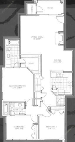 1,377 sq. ft. St. Andrews floor plan