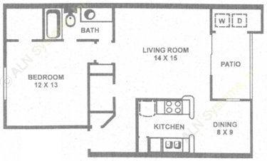 778 sq. ft. B floor plan