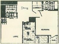 733 sq. ft. CAPE floor plan