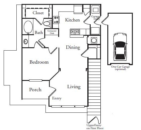 788 sq. ft. EVERGLADES floor plan