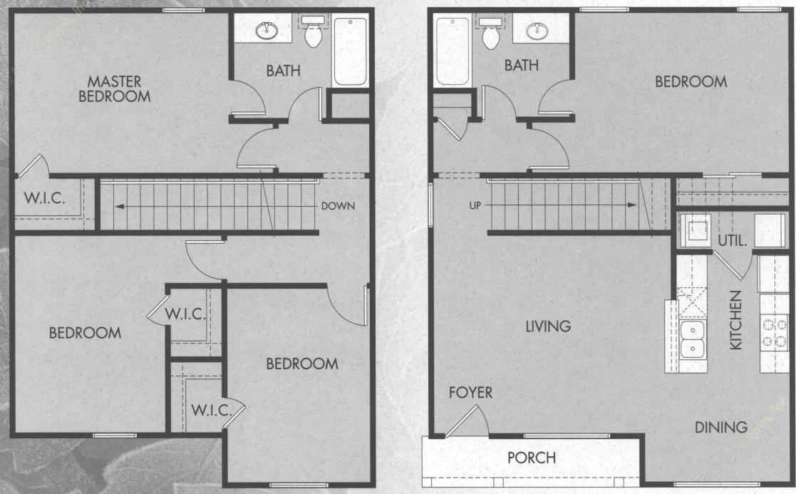1,500 sq. ft. D1/50% floor plan