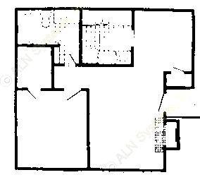684 sq. ft. 60% floor plan