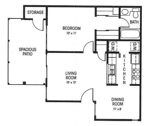 630 sq. ft. A floor plan