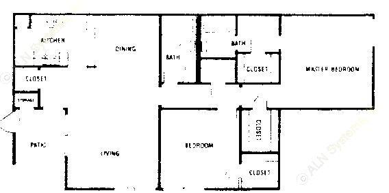 1,003 sq. ft. A3 ABP floor plan