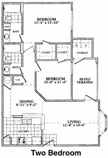 1,069 sq. ft. to 1,081 sq. ft. C floor plan