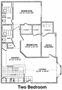 1,069 sq. ft. to 1,081 sq. ft. C floor plan