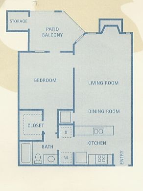 634 sq. ft. A4 floor plan