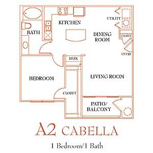 815 sq. ft. A4 floor plan