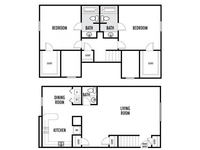 1,155 sq. ft. floor plan