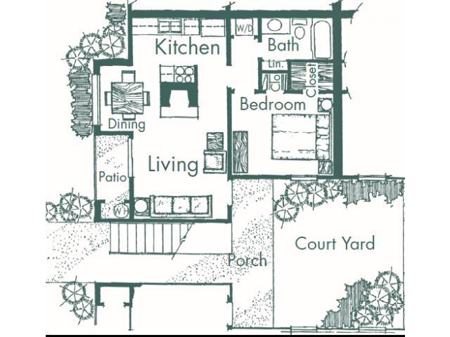 550 sq. ft. C floor plan
