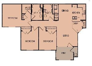 1,193 sq. ft. 60 floor plan