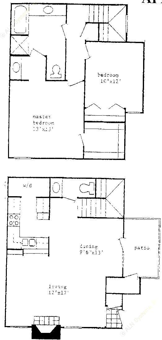 1,025 sq. ft. floor plan