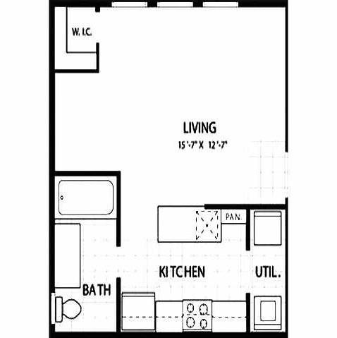 430 sq. ft. PEARL floor plan