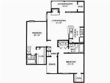 995 sq. ft. floor plan
