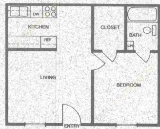 453 sq. ft. A1 floor plan