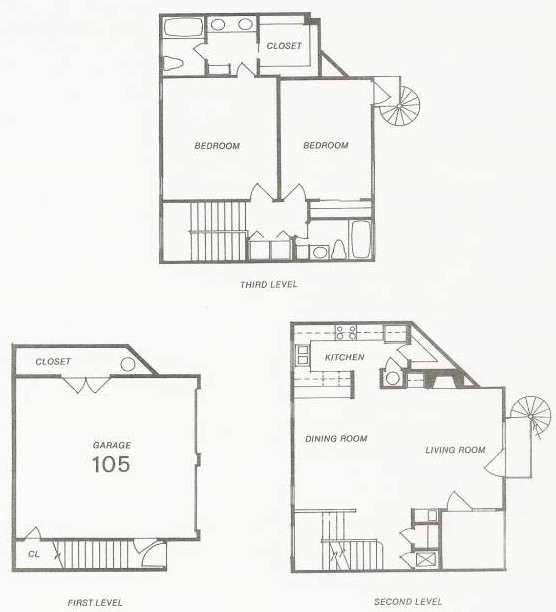 1,526 sq. ft. 105 floor plan