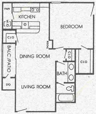 750 sq. ft. G floor plan