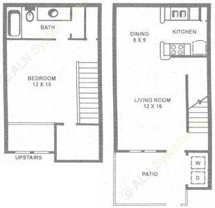 838 sq. ft. C floor plan