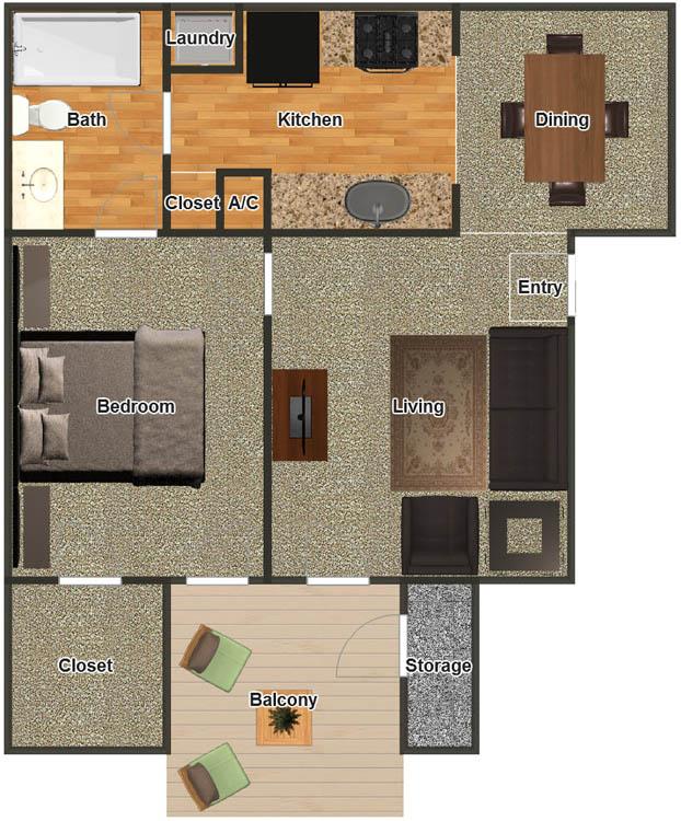 600 sq. ft. 2 floor plan