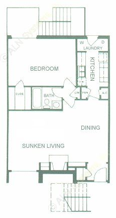 807 sq. ft. floor plan