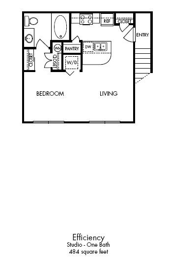 484 sq. ft. Mod - EFF floor plan