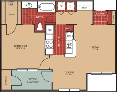 750 sq. ft. 60 floor plan