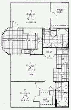 1,332 sq. ft. SOUTH HAVEN floor plan