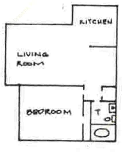 530 sq. ft. floor plan
