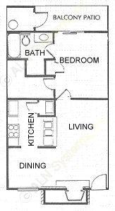 622 sq. ft. floor plan