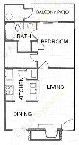 622 sq. ft. floor plan