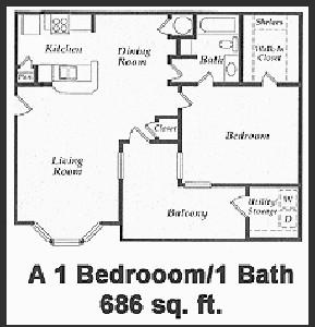 686 sq. ft. floor plan
