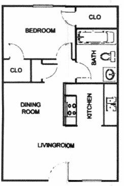 680 sq. ft. A3/ABP floor plan
