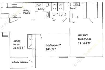 931 sq. ft. floor plan