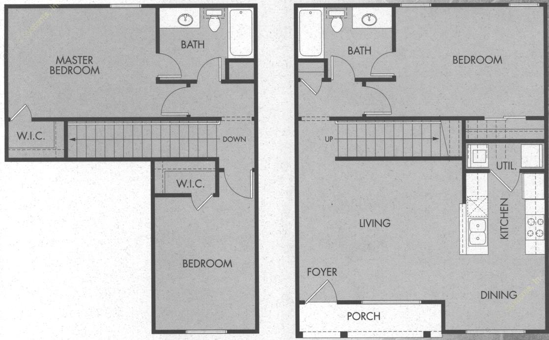 1,300 sq. ft. C2/60 floor plan