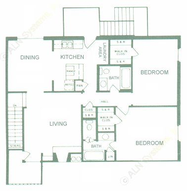 1,154 sq. ft. floor plan
