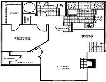 797 sq. ft. LIMESTONE floor plan