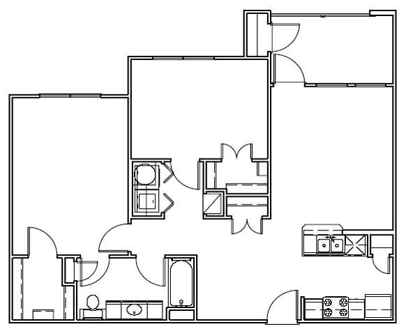 951 sq. ft. Lighthouse/30 floor plan