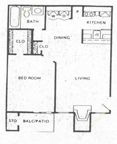 548 sq. ft. A4 floor plan