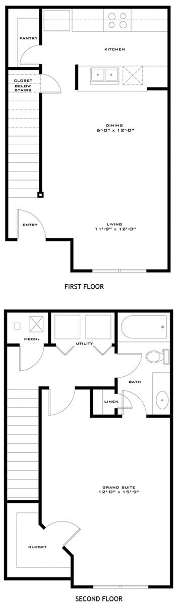 787 sq. ft. AMISTAD/60 floor plan