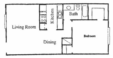 753 sq. ft. C floor plan