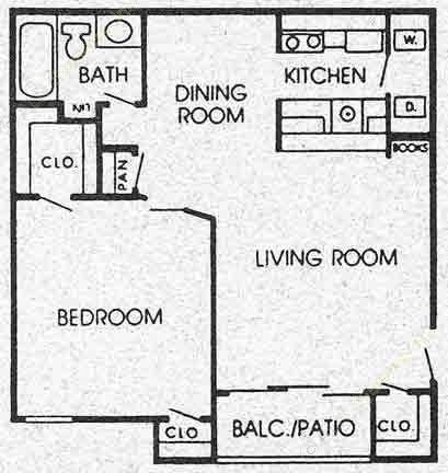715 sq. ft. F floor plan