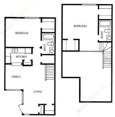 1,084 sq. ft. BT floor plan